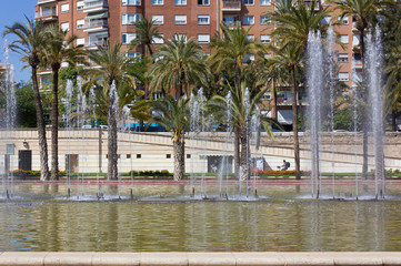 Jardin del Turia City Park in Valencia, Spain
