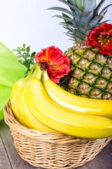 Obstkorb mit Bananen