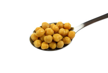 closeup chickpeas