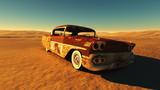 Zardzewiały samochód na pustyni - 64584849