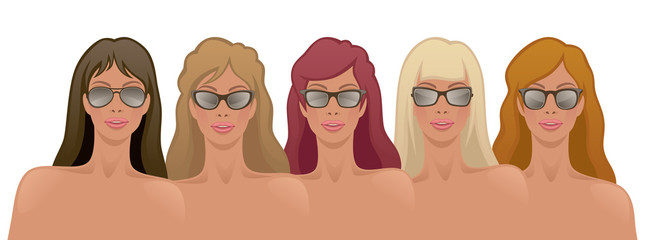 Girls in sunglasses