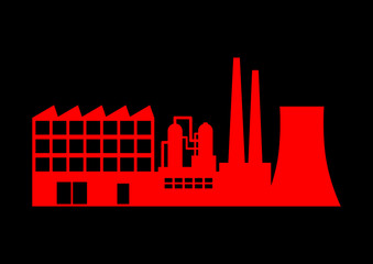 Red factory icon