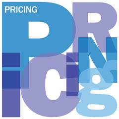 PRICING Letter Collage (prices product services company)