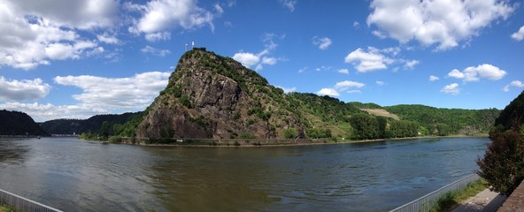 loreley rock next to river rhine germany