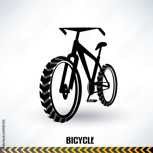 mountain bike vector symbol - 64587423