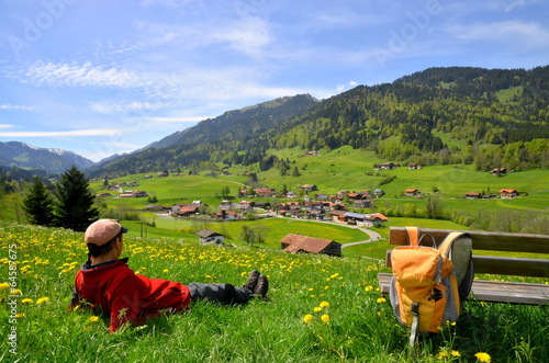 canvas print picture Wandern, Berge, Erholung