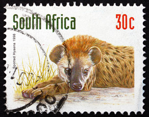 Postage stamp South Africa 1998 Spotted Hyena, Animal