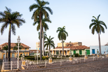 A view of plaza mayor in Trinidad, Cuba
