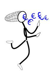 Strichmännchen fängt Euros