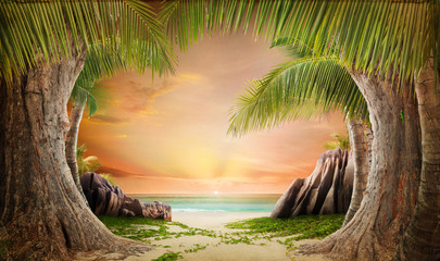Dreamy beach landscape backgrund