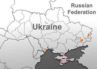 Attacks on Ukraine. Map.
