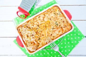 casserole, lasagna