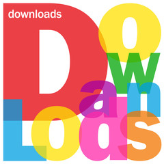 """DOWNLOADS"" Letter Collage (internet web search save free files)"