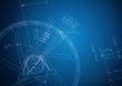 Leinwandbild Motiv industrial blueprint