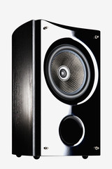 Audio speaker on a white background
