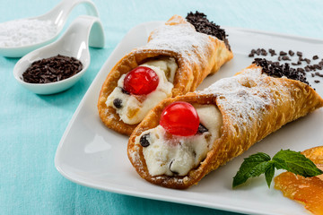 Cannoli siciliani, close-up