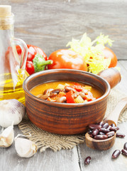Soup with beans