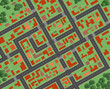Plan of the city, top view. Eps10.