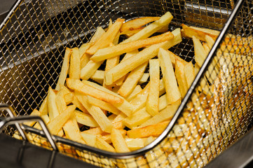 preparation of french fries