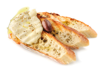 grilled bread with cheese