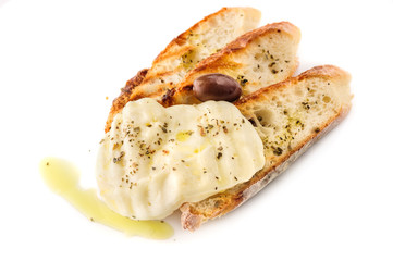 grilled bread with cheesein greek style