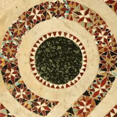 antique marble inlay mosaic , Amalfi