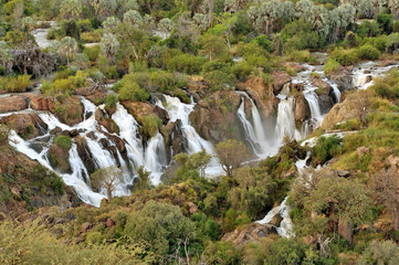 Epupa waterfall panorama, Namibia