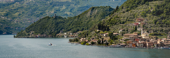 the beautiful lake of Iseo, North Italy, near Brescia and Bergam