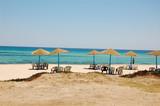 Summertime tourist district in Tunisia