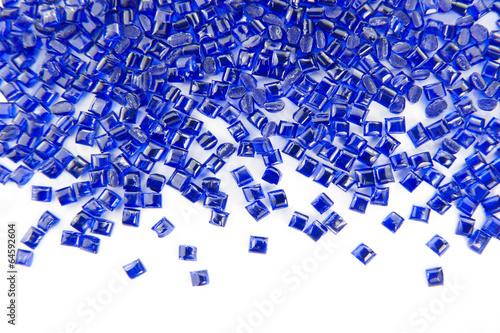 plastic polymer granules - 64592604
