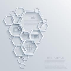 Vector modern infographic element design. Eps10