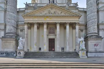 Vienna Austria Karlskirche vandalism 2014 May b