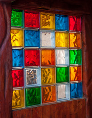 Colorful glass mosaic