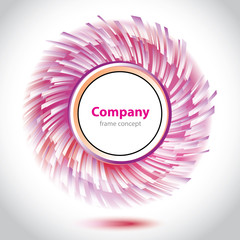 Abstract purple-white circle element for company.