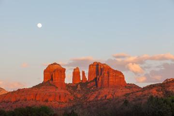 Cathedral Rocks Moonrise