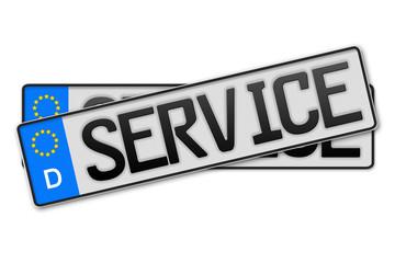 Auto Kennzeichen Service
