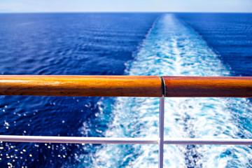 Wake from cruise ship
