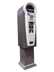 Parking meter ticket dispensing machine, isolated