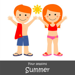 Four Seasons_Summer children