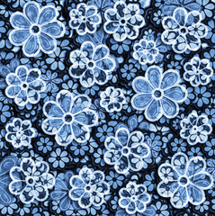 Faded textile Floral Pattern
