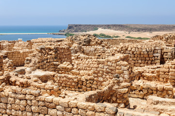 Archaeological site of Sumhuram, near Salalah, Dhofar region (Om
