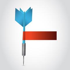 blue dart and red blank sign illustration design