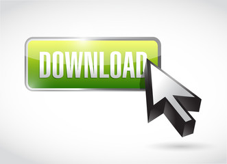 green download button illustration design