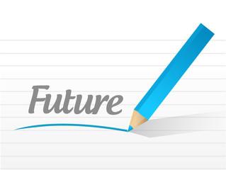 future sign message illustration design