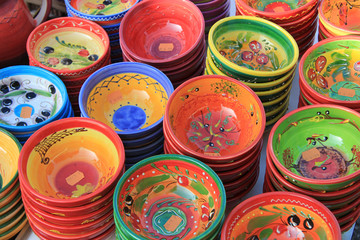Pottery at a market