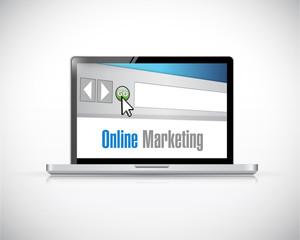 online marketing computer sign concept illustration