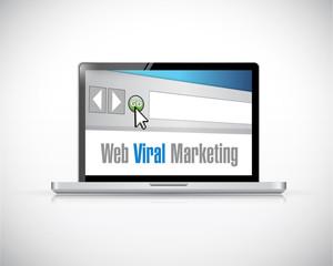 web viral marketing computer laptop illustration