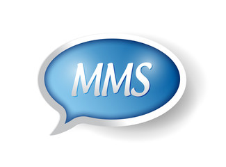 mms message bubble illustration design
