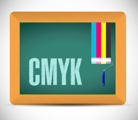 cmyk message sign illustration design