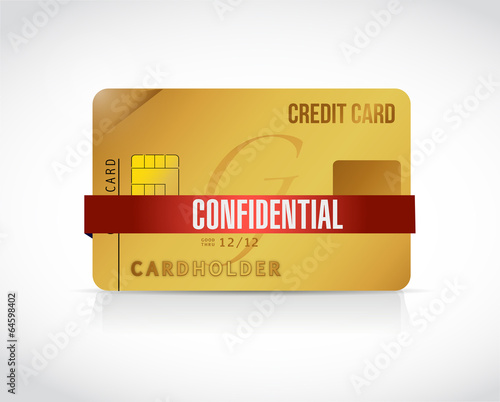 confidential credit card information illustration